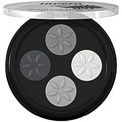 Lavera, Palette con 4 ombretti, collezione Beautiful Mineral, 3 g, Grigio (Smoky Grey 01)