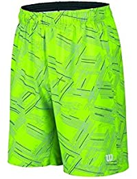 Wilson B SU Perpective Print 8 Short Co - Pantalón corto unisex, color verde, talla XS