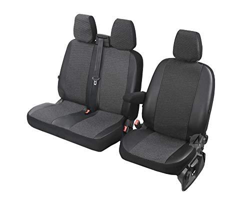 Sitzbezug Sitzbezüge Fahrer LAMMFELL anthrazit für NISSAN Modelle Univ