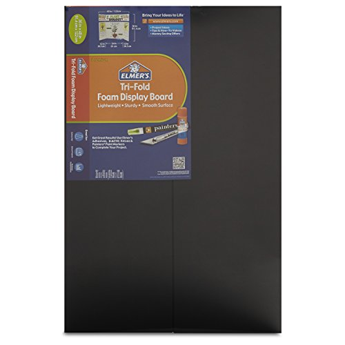 elmers-premium-tri-fold-foam-display-board-36-x-48-inches-black-single-board-902091-by-elmers