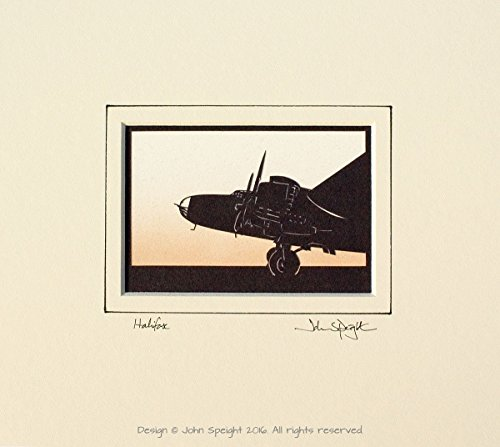 halifax-aircraft-original-signed-hand-cut-silhouette-papercut-art