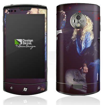 Lg Optimus 7 E900 (LG Optimus 7 E900 Case Skin Sticker aus Vinyl-Folie Aufkleber Frau Föhn Kamm)