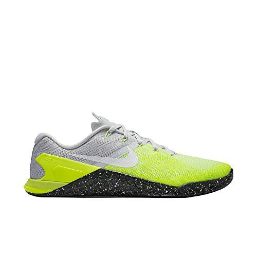 Nike Herren Metcon 3 Gymnastikschuhe Hellgrau (Pure Platinum/Volt/Ghost Green/Black)