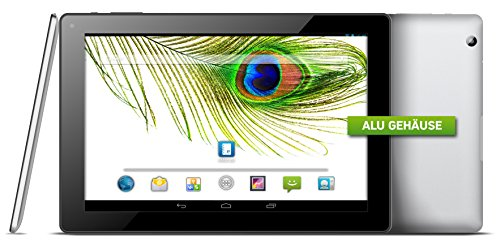 Odys Gate X610089 25,7 cm (10,1 Zoll) Tablet-PC (Rockchip Quad-Core, 1,6GHz, 1GB RAM, 16GB HDD, HD IPS Display (1280x800),  Alugehäuse, Kingsoft Office, WiFi, v4.0 Bluetooth, Android 4.4 Touchscreen) schwarz