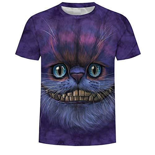 ops Mode-T-Shirts Unterhemden Kurzarm Unisex Neuheit Kostüm HD Anime Druck Cheshire Cat ()