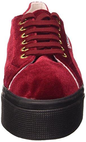Superga 2790-Velvetw, Chaussures de Gymnastique Femme Rouge (A77 Dk Red)