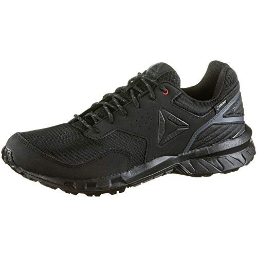 Reebok Herren Ridgerider Trail 4.0 GTX Fitnessschuhe, Mehrfarbig (Black/True Grey/Primal Red 000), 43 EU (Herren Trail-walking-schuhe)