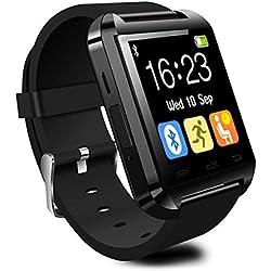 CHEREEKI Smartwatch Reloj Inteligente Bluetooth Smart Watch con la Pantalla Táctil Compatible con Android Smartphones Samsung HTC LG Huawei Sony Reloj Deportivo