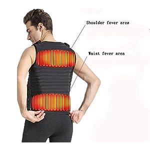 Usb-Weit Infrarot-Elektroheizung Halten Sie Warme Weste, Schützen Sie Die Taille, Rücken, Bauch Elektrische Weste