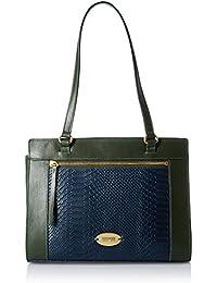 Hidesign Women's Handbag (Blue Emer)