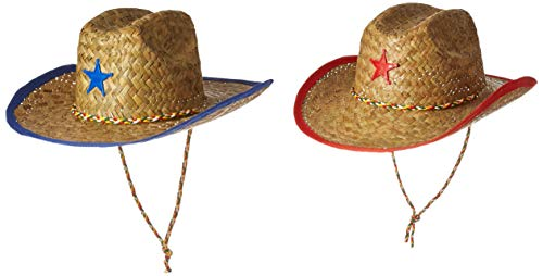 bdc519a63 Fun Express Childs Straw Cowboy Hat with Plastic Star - 12 Pieces