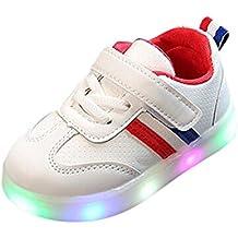 Zapatillas Unisex Niños K-Youth Zapatos LED Niños Niñas Zapatillas Niño Zapatillas de Rayas para