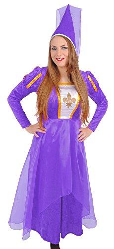 Lila Belle Kostüm - Burgfräulein Bella Kostüm für Damen - Lila Gr. 44
