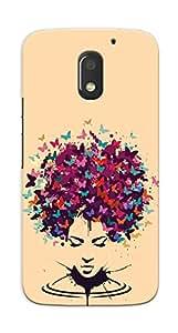 Kaira High Quality Printed Designer Back Case Cover For Motorola Moto E3 Power(Butterflyhead)