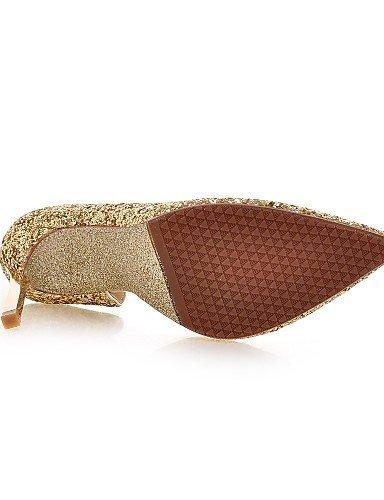 ShangYi Chaussures Femme - Mariage / Bureau & Travail / Habillé / Décontracté / Soirée & Evénement - Noir / Blanc / Argent / Or - Talon Aiguille - Silver