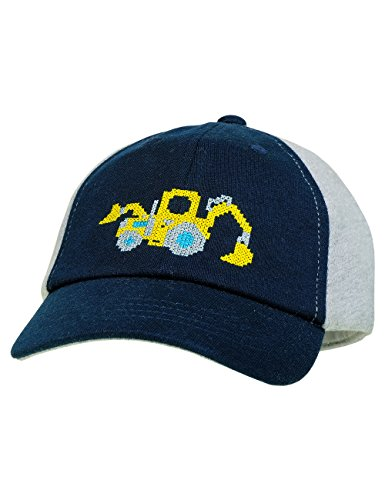 maximo Baby-Jungen Kappe Cap Pixel Digger, Blau (Dunkelmarine/Graumeliert 1105), 47/49 (Digger Mütze)