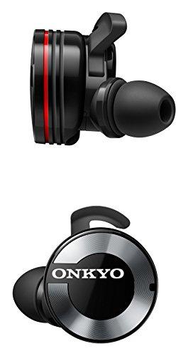 Onkyo W800BTB True Wireless - Auriculares Inalámbricos In-Ear sin Cables (Estuche de Carga portátil, 3 Almohadillas de Diferente tamaño, Bluetooth), Negro
