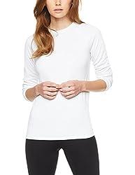 Iris & Lilly Thermoshirt Damen langarm, mit körpernaher Passform, 2er Pack Weiß (White), 38 (Herstellergröße: S)