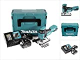 Makita DJV 181 RGJ 18 V Li-ion Akku Stichsäge + 2x BL 1860 B 6,0 Ah Akku + Makita DC 18 RC Ladegerät