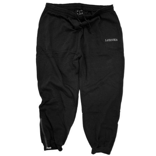Lavecchia–basso pantaloni jogging sport tuta–per uomo–taglia grande nero nero nero