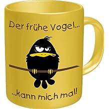 Tasse - Der frühe Vogel kann mich mal - Fun Spruch - Grösse Ø8,5 H9,5cm