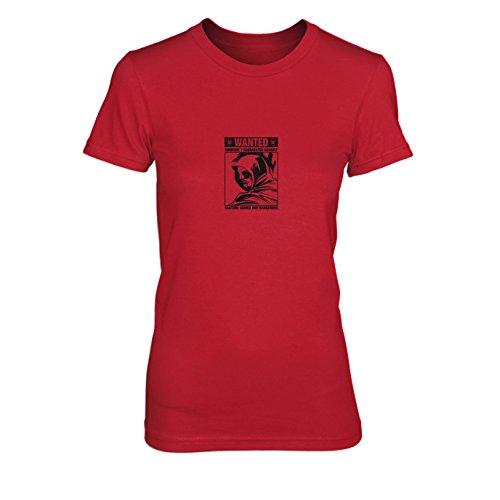 Wanted Arrow - Damen T-Shirt, Größe: XL, Farbe: rot (Roter Pfeil Dc Kostüm)