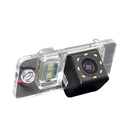 HDMEU Vehículo Que Invierte la Cámara, la Matrícula de la Cámara de Visión Trasera del Coche con Luz LED a Prueba de Agua la Visión Nocturna para A3/A4/A6L/Q7/S5/S8/A7/A8L