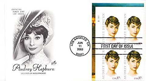 Audrey Hepburn Legend of Hollywood Collectible ArtCraft First Day Cover Stamp Cachet FDC 3786 by ArtCraft FDC