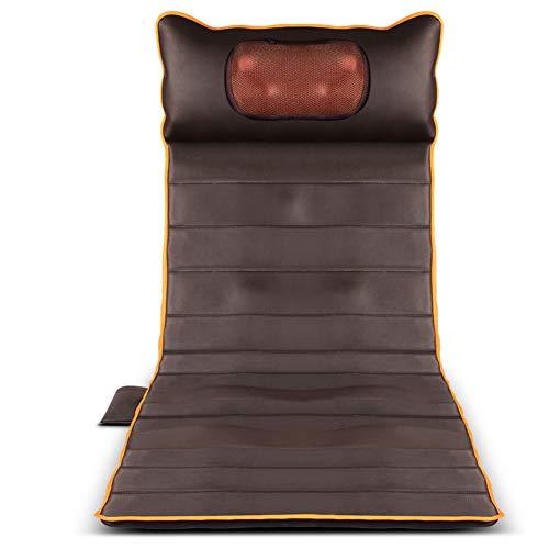 JMung Elektrische Massagematte Massageauflage Vibrationsmatte Nackenknete Taille Rückenwärme Multifunktions 10 Massagemotoren, angepasste Zonensteuerung