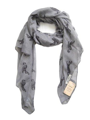 a168-grenouillere-pour-femme-imprime-flamands-roses-echarpe-foulard-doux