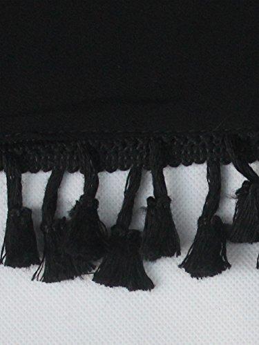 GDKEY Damen Chiffon Bikini Cover up Strand verdecken Strandabdeckung Strandkleid Schwarz
