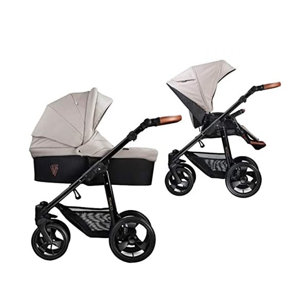 Venicci Gusto 2-in-1 Travel System - Cream - with Carrycot + Changing Bag + Footmuff + Raincover + Mosquito Net + 5-Point Harness and UV 50+ Fabric + Cup Holder  2-in-1 Pram and Pushchair with custom travel options Suitable for your baby from birth until approximately 36 months 5-point harness to enhance the safety of your child 1