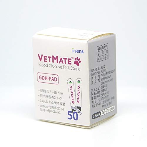 VETMATE Teststreifen 50 Blätter Hund Katze Diabetische Blutzuckermessgerät Meter [parallel Import] (Misc.)