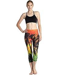 HYHAN pantalons de yoga dames mince hanche absorbant la transpiration physique Pantalon respirant d'exercice d'étirement