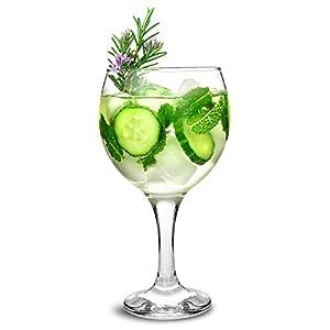 City Gin Ballon Gläser Glas 623/645ml, 6Stück-Copa de Ballon Gin & Tonic Cocktail Gläser