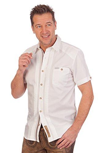 Trachtenhemd 1/2 Arm REGULAR, Größe 43/44 (XL) Weiß