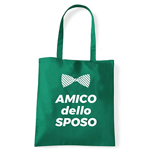 Art T-shirt, Borsa Shoulder Amico dello Sposo, Shopper, Mare Verde