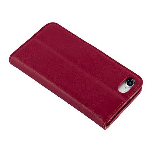 Cadorabo - Luxury Etui Housse pour Apple iPhone 7 Portefeuille (stand horizontale et fentes pour cartes) - Coque Case Cover Bumper Portefeuille en VERT PRÉ ROUGE CERISE