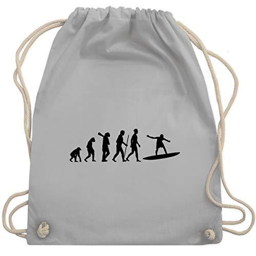 Evolution - Wellenreiter Evolution - Unisize - Hellgrau - WM110 - Turnbeutel & Gym Bag Olive Wellen