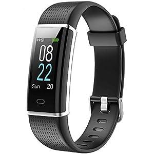 Willful Montre Connectée Podometre Smartwatch Bracelet Connecté Écran Couleur Etanche IP68 Femme Homme Enfant Sport Cardio Fitness Tracker d'Activité Cardiofréquencemètre pour Android iOS Smartphone