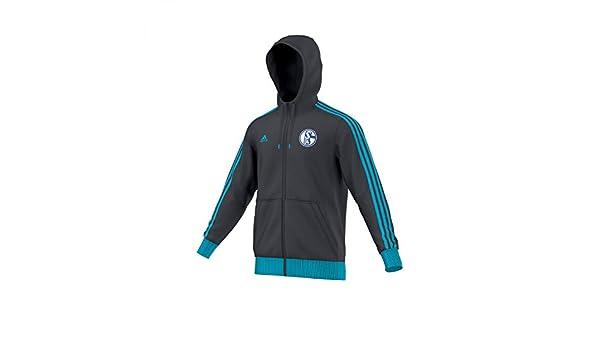 adidas Herren Jacke Schalke 04 3 Stripes Hoodie Zip: Amazon