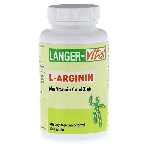 L-ARGININ 2894 mg/TG plus Vitamin C und Zink Kaps. 120 St Kapseln