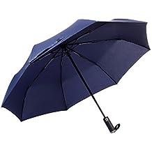 Veperain Paraguas-Paraguas Compacto Plegable, Resistente al Viento, con Tela hidro-Repelente