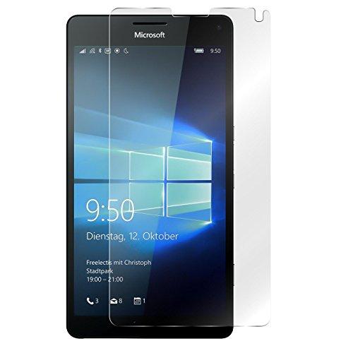 Conie 9H2768 9H Panzerfolie Kompatibel mit Nokia Lumia 950 XL, Panzerglas Glasfolie 9H Anti Öl Anti Fingerprint Schutzfolie für Lumia 950 XL Folie HD Clear