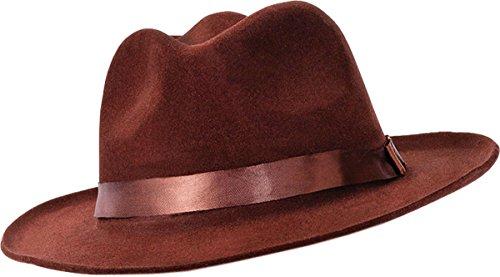 Unisex Erwachsene Fancy Party mit Kopfbedeckungen Zubehör Gangster Stil Samt Fedora Hat