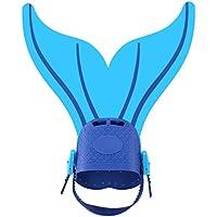 Aleta de Natación Ajustable de Sirena Aleta de Pie Mono Aletas para Buceo Natación Entrenamiento ( Color : Dark blue )