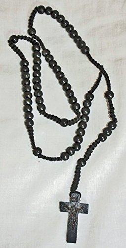 di-legno-perlina-nero-cavo-rosario-con-croce-crocifisso-forte-nero-preghiera-perline-rosario