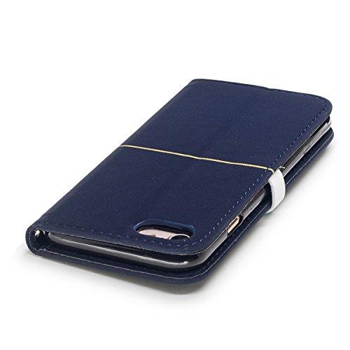 iPhone 7 Coque,Fodlon® Mode Or Velours prune Fleur Tête Machines à sous avec Cordon Téléphone Housse -Gros rouge Marine