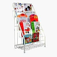 Vbndf Book Shelf Rack Simple Kindergarten Bookshelf Iron Art Picture Book Stand Floor Magazine Rack Children