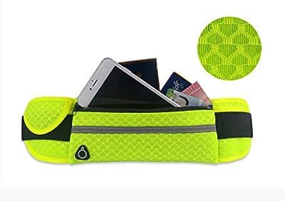 Bigood Sac Ceinture Banane Femme Homme Téléphone Portable Escalade Jogging Randonnée Sport Respirant